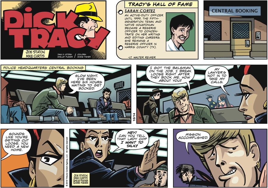 Dick Tracy Comic Strip for October 14, 2018