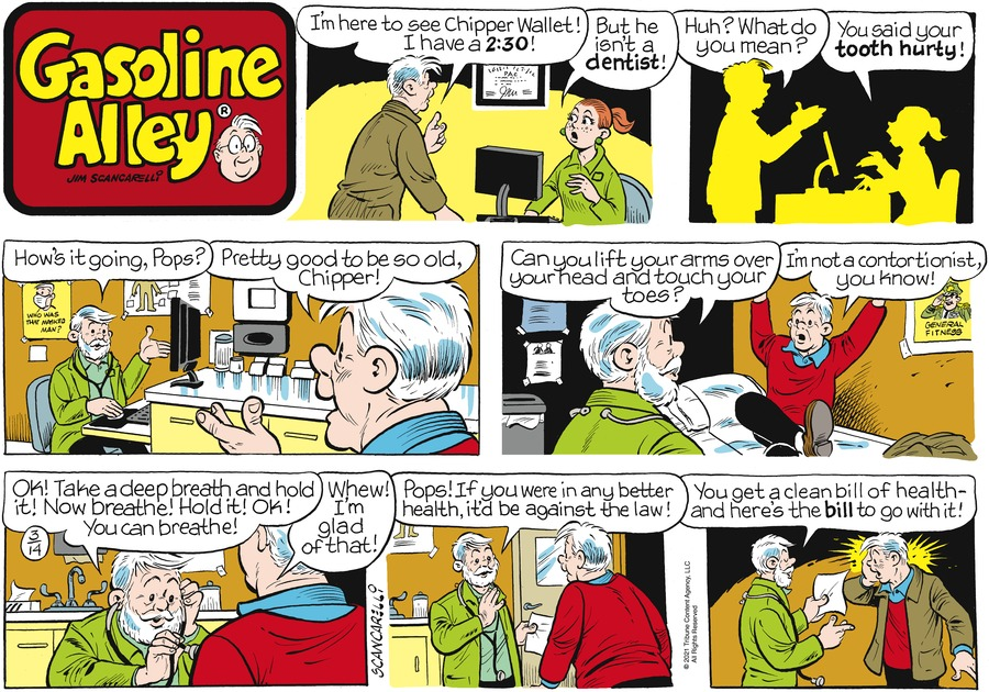 Gasoline Alley Comic Strip for March 14, 2021