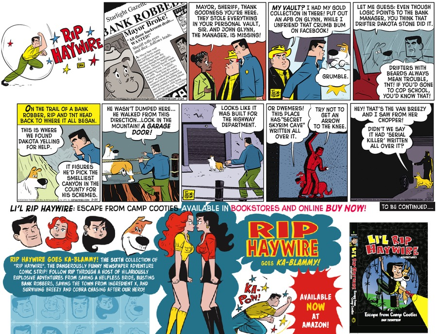 Rip Haywire Comic Strip for June 26, 2016
