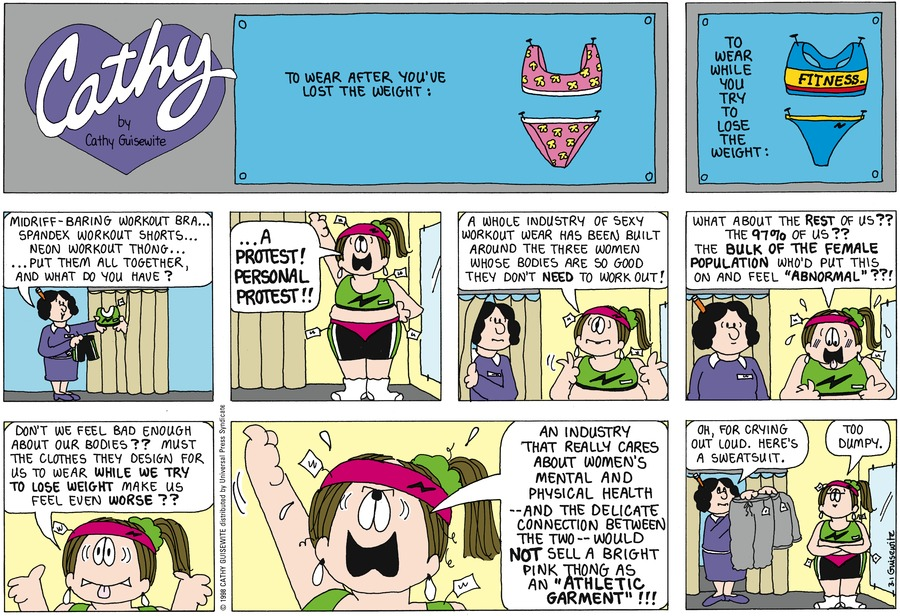 Cathy for Mar 1, 1998 Comic Strip