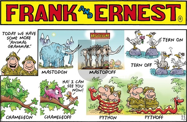 Frank and Ernest on Sunday May 10, 2015 Comic Strip