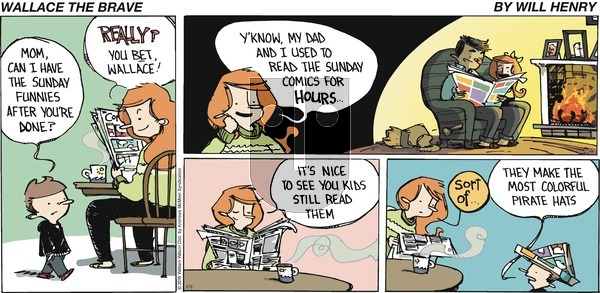 Wallace the Brave - Sunday February 3, 2019 Comic Strip