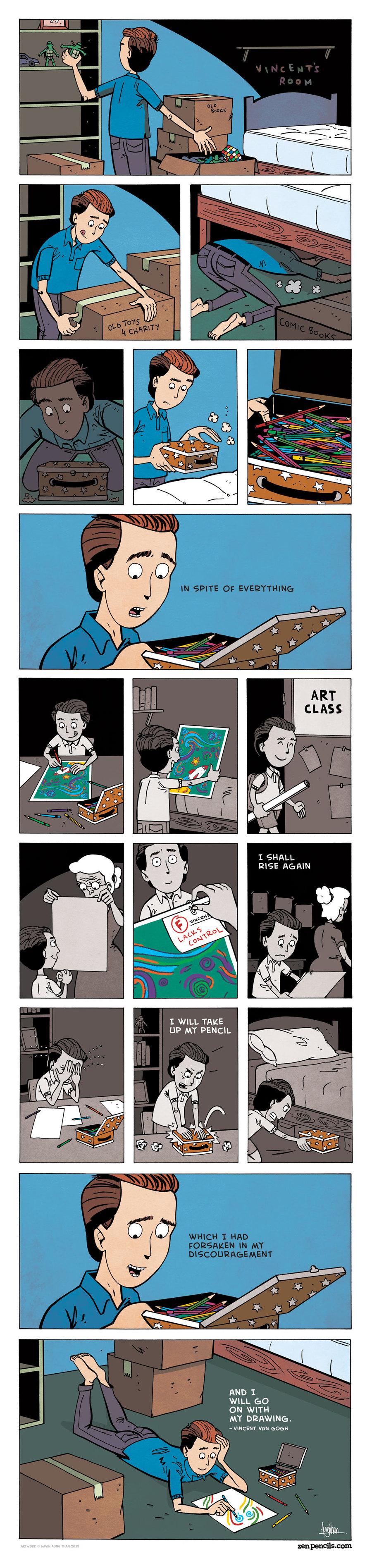 Zen Pencils for Mar 31, 2014 Comic Strip