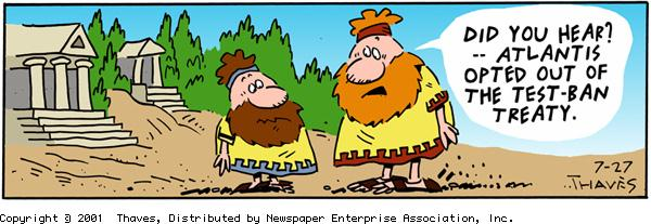 Frank and Ernest Comic Strip for July 27, 2001
