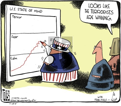 Tom Toles on Sunday November 29, 2015 Comic Strip