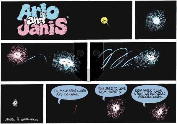 Arlo and Janis on Sunday July 4, 1999 Comic Strip