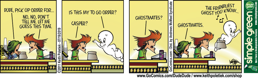 Dude and Dude Comic Strip for July 19, 2019