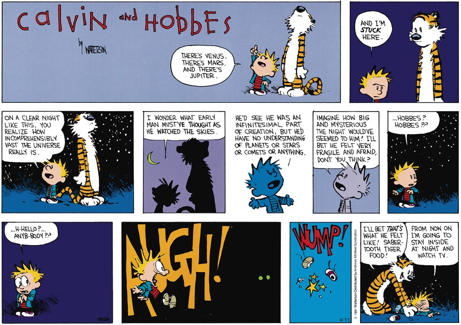 Calvin and Hobbes Comic Strip for April 11, 2021
