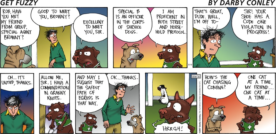 Get Fuzzy Comic Strip for August 18, 2019