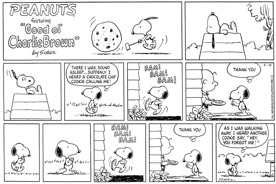 Peanuts Comic Strip for May 15, 1983