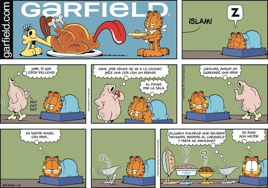 Garfield en Español by Jim Davis for November 18, 2018