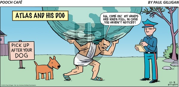 Pooch Cafe on Sunday December 9, 2018 Comic Strip