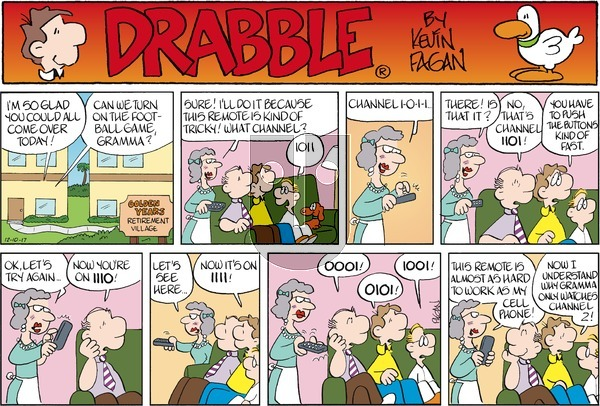 Drabble on Sunday December 10, 2017 Comic Strip