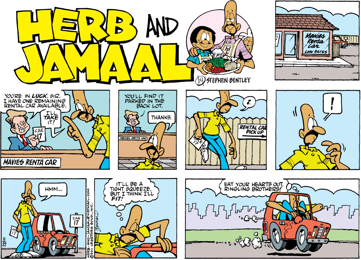 Herb and Jamaal Comic Strip for November 27, 2011