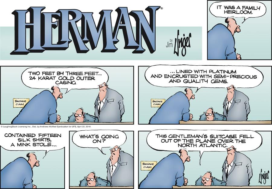 Herman Comic Strip for April 22, 2018