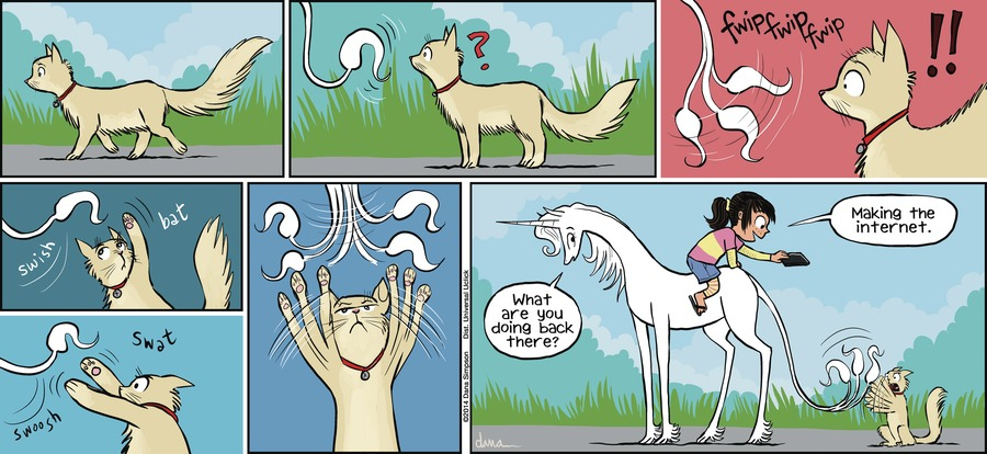 Phoebe and Her Unicorn for Apr 14, 2013 Comic Strip