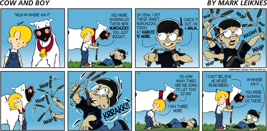 Cow and Boy Classics Comic Strip for August 27, 2006
