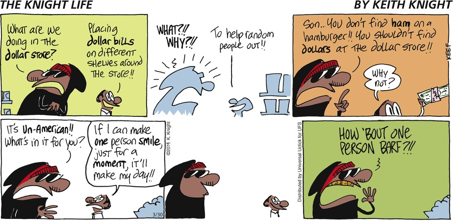 The Knight Life for Mar 30, 2014 Comic Strip