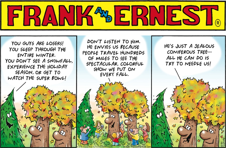 Frank and Ernest Comic Strip for October 20, 2019