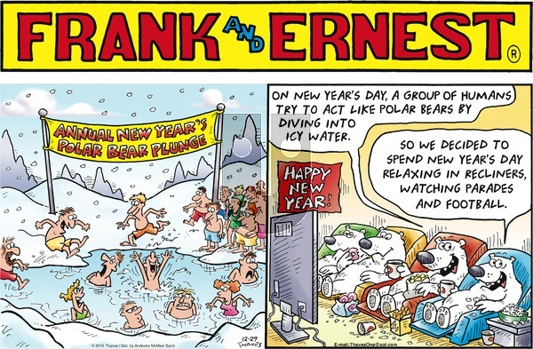 Frank and Ernest on Sunday December 29, 2019 Comic Strip