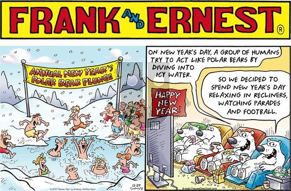 Frank and Ernest - Sunday December 29, 2019 Comic Strip