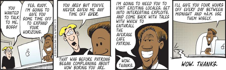 Rudy Park for Mar 13, 2018 Comic Strip