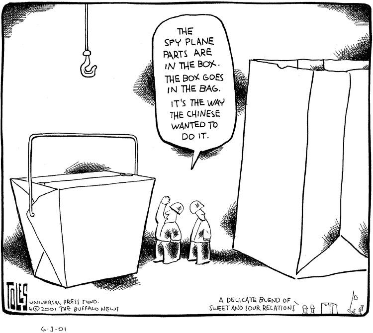 Tom Toles for Jun 3, 2001 Comic Strip