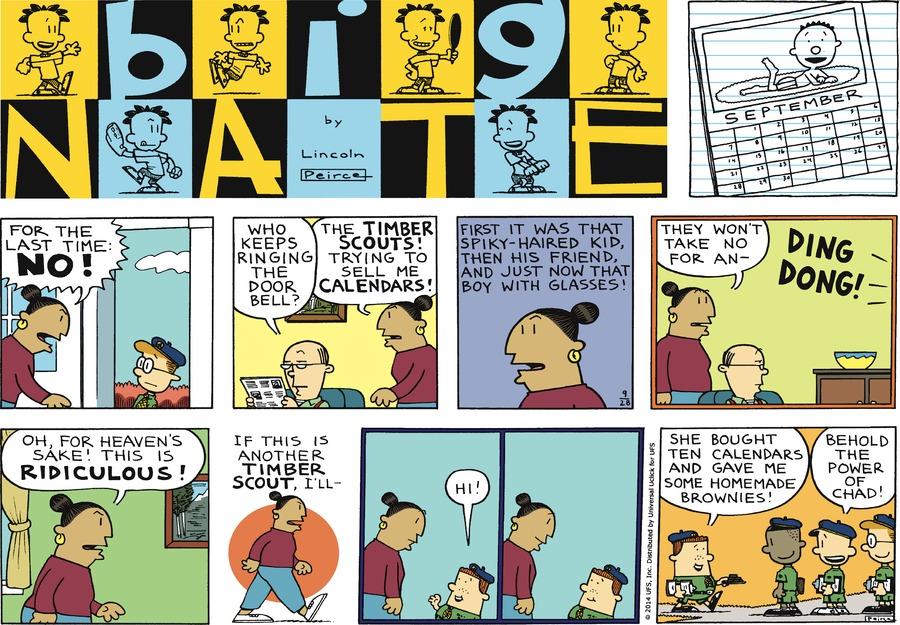 Big Nate Comic Strip for September 28, 2014