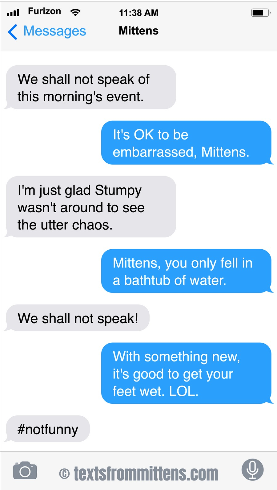 Texts From Mittens Comic Strip for January 12, 2020