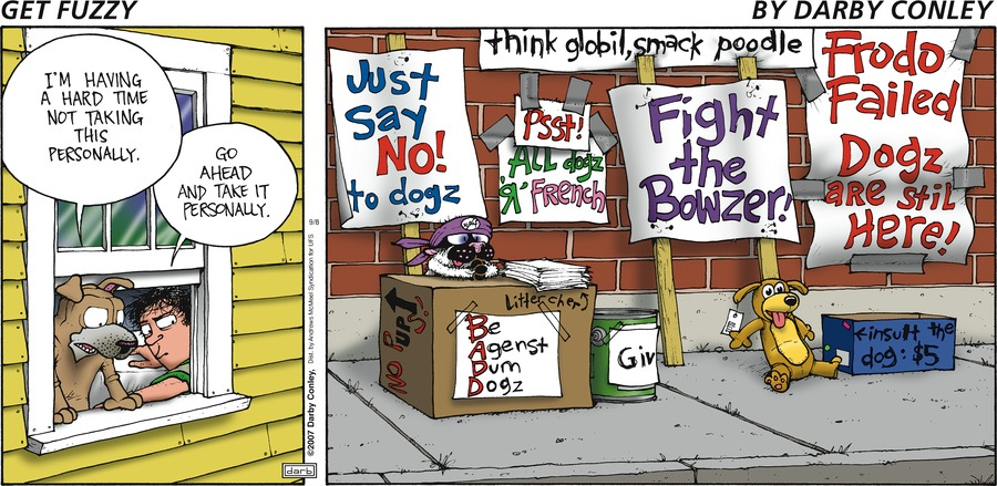 Get Fuzzy Comic Strip for September 08, 2019