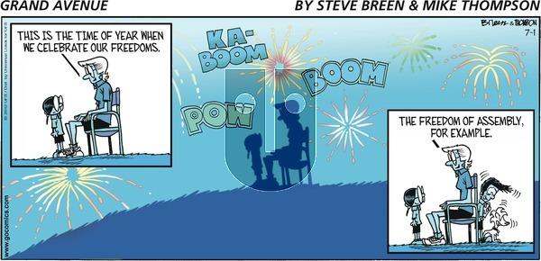 Grand Avenue on Sunday July 1, 2012 Comic Strip