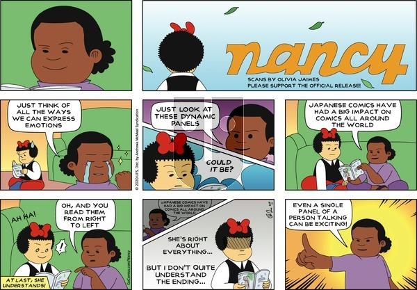 Nancy on Sunday October 18, 2020 Comic Strip