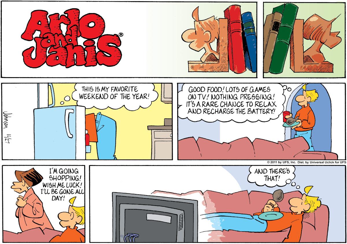 Arlo and Janis for Nov 27, 2011 Comic Strip