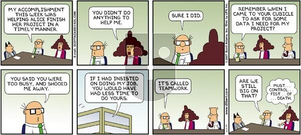 Dilbert - Sunday October 21, 2007 Comic Strip