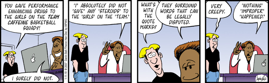 Rudy Park Comic Strip for January 11, 2019