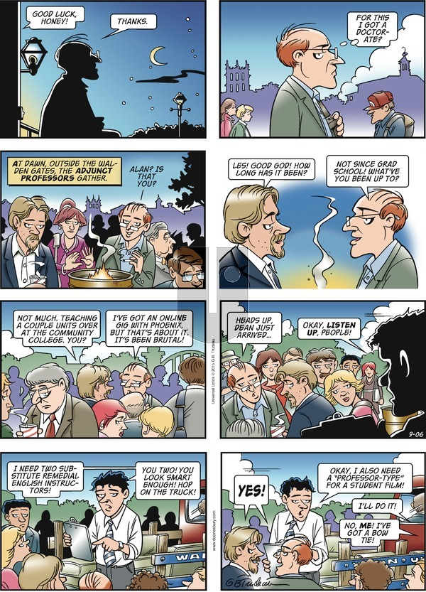 Doonesbury on Sunday September 6, 2015 Comic Strip