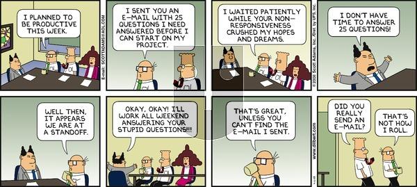 Dilbert - Sunday April 6, 2008 Comic Strip
