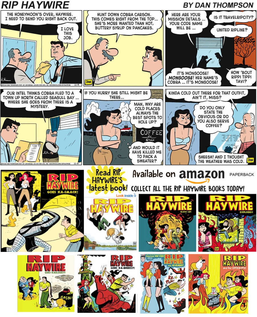 Rip Haywire Comic Strip for December 08, 2019