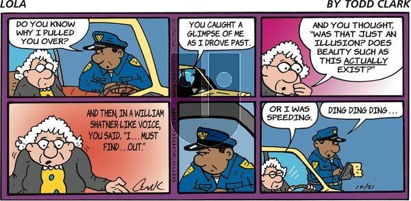 Lola on Sunday October 21, 2018 Comic Strip