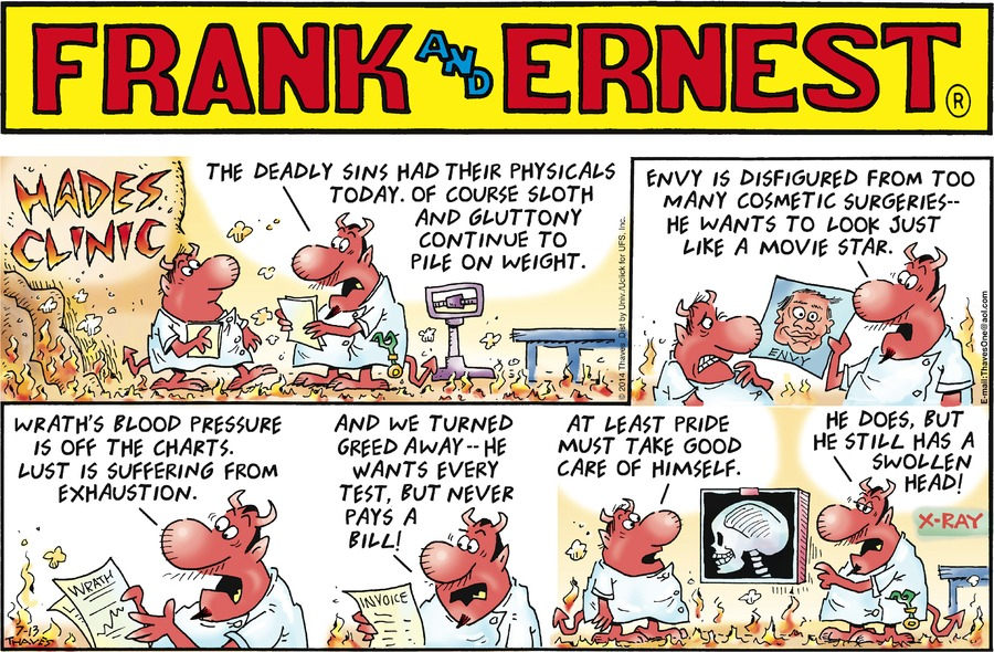 Frank and Ernest for Jul 13, 2014 Comic Strip