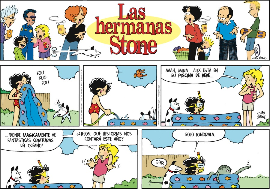 Las Hermanas Stone by Jan Eliot for Jul 1, 2018