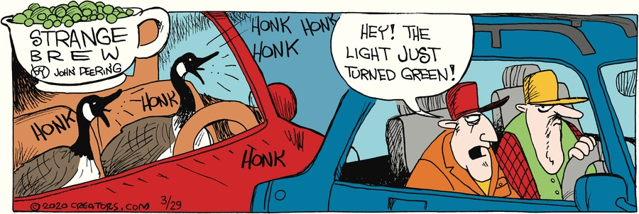 Strange Brew Comic Strip for March 29, 2020