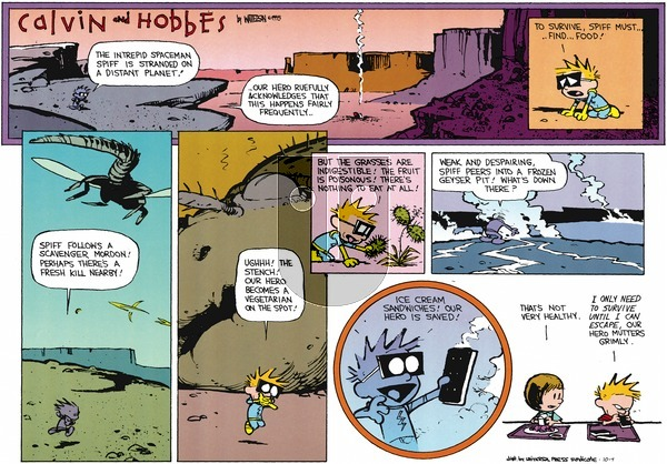 Calvin and Hobbes on Sunday October 4, 2015 Comic Strip