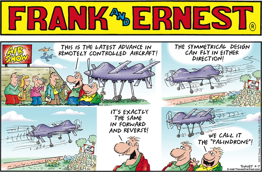 Frank and Ernest Comic Strip for April 07, 2013