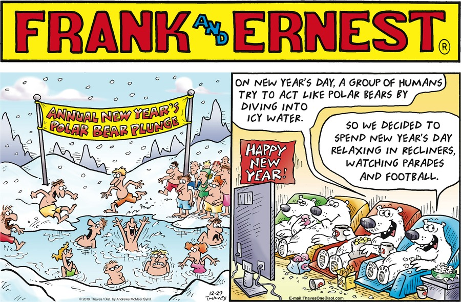 Frank and Ernest Comic Strip for December 29, 2019