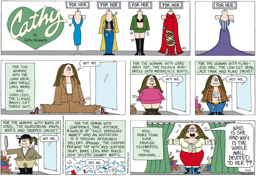 Cathy for Sep 23, 2012 Comic Strip