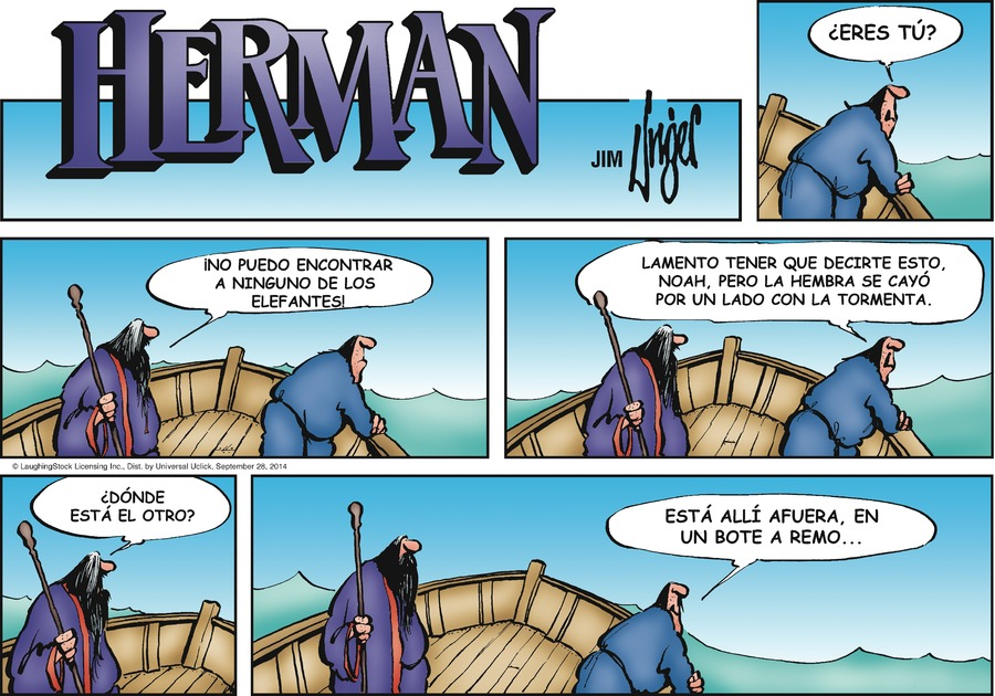 Herman en Español by Jim Unger for Sep 28, 2014