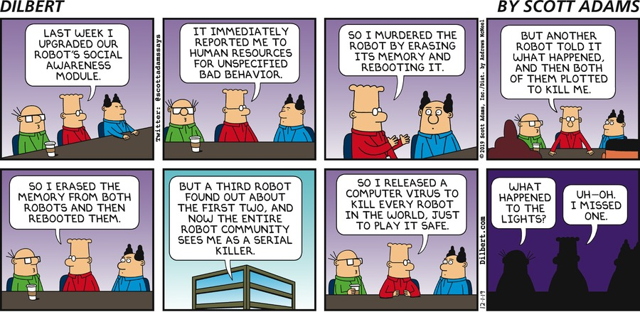 Dilbert Murders Robots - Dilbert by Scott Adams