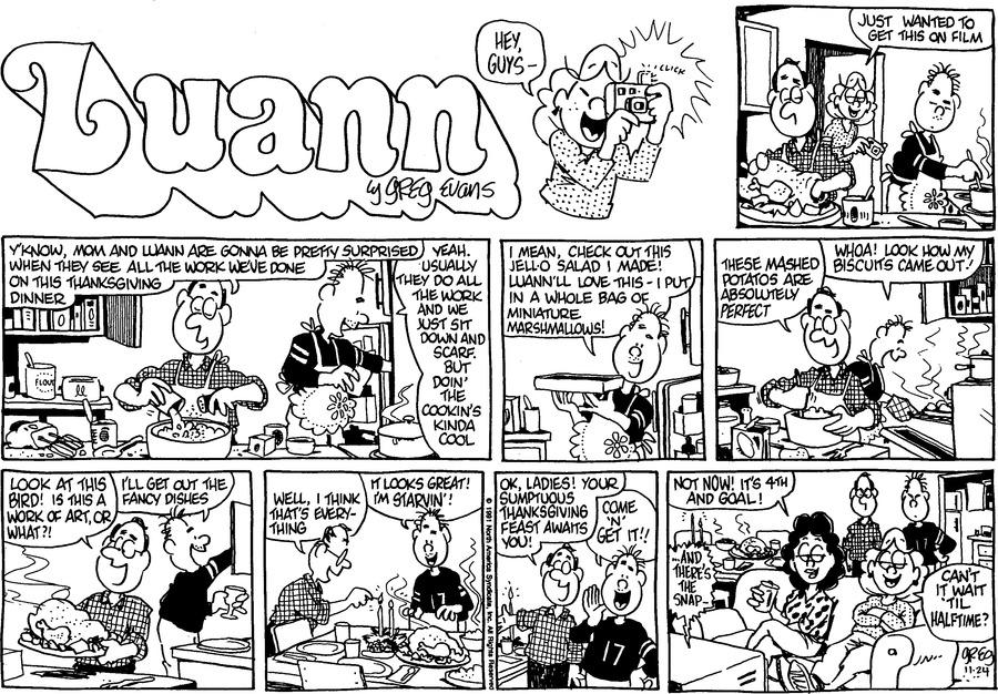 Luann Againn Comic Strip for November 24, 2019