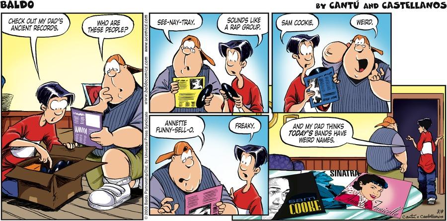 Baldo Comic Strip for March 09, 2003
